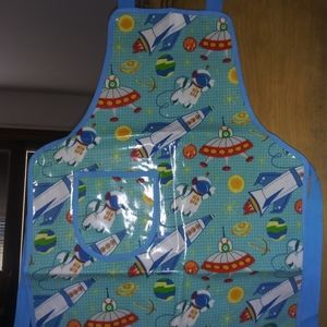 NWT child's apron with space print
